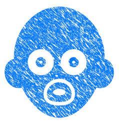 baby head grunge icon vector image