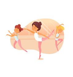 Ballet dancers lesson flat vector