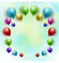 balloons on starry watercolour background vector image vector image