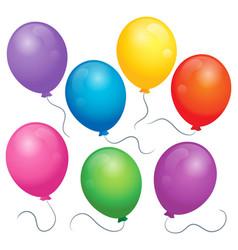balloons theme image 1 vector image