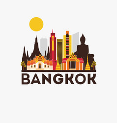 Bangkok yravel background vector