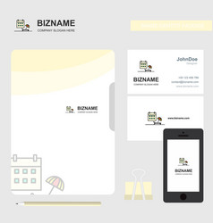 beach business logo file cover visiting card and vector image