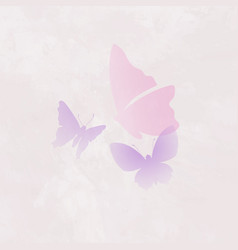 Beautiful butterfly logo element pink creative vector