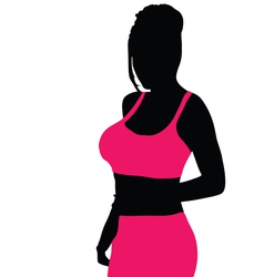beauty girl black and pink vector image