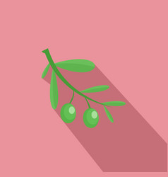 branch of olives icon flat style vector image