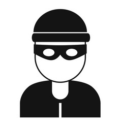 Burglar icon simple style vector