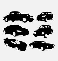 Car transportation silhouette vector