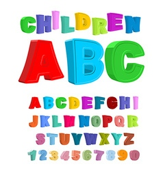 Children ABC Large letters in kids style babies vector