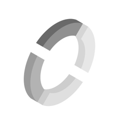 Circle loading bar icon isometric 3d style vector image