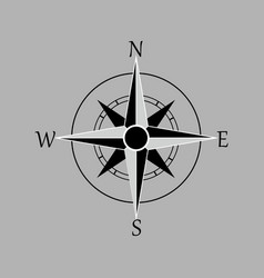compass rose wind rose navigation icon isolated vector image