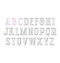 Contour serif font vector