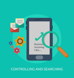 Controlling and searching conceptual design vector