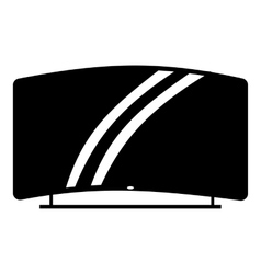 Curved TV icon simple style vector