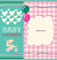 Cute Baby Shower Greeting Card vector image