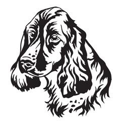 Decorative portrait dog russian spaniel vector