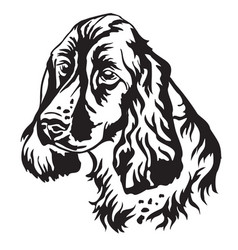 decorative portrait of dog russian spaniel vector image