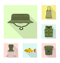 Design of fish and fishing logo collection vector