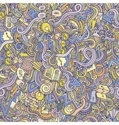 doodles idea seamless pattern vector image