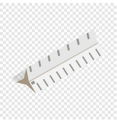 drawing ruler isometric icon vector image