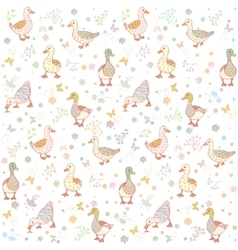 ducks seamless background vector image