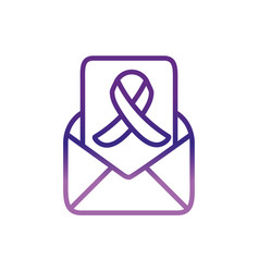 envelope ribbon message charity help donation vector image