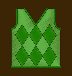 flat shading style icon golf vest vector image