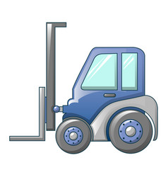 Forklift tractor icon cartoon style vector