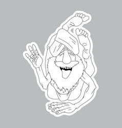 Funny yogi sticker vector