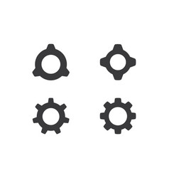 gear logo template vector image