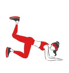 Girl practises fitness vector image