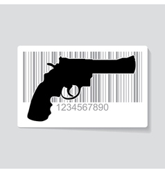 Gun barcode vector