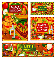 happy cinco de mayo mexican holiday greetings vector image