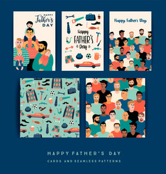 happy fathers day templates design vector image