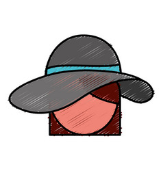Hat icon image vector