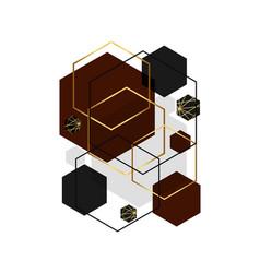 Hexagon shape abstract background vector