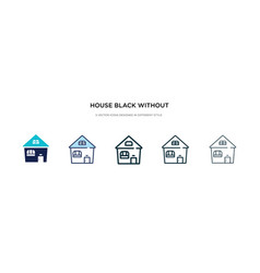 House black without door icon in different style vector