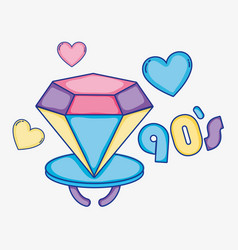 i love 90s cartoons vector image