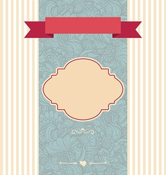 Invitation card decorative frame vector
