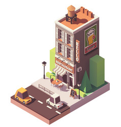 Isometric retro restaurant vector