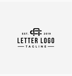 label letter ca logo letter ac logo icon template vector image