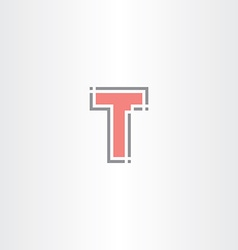 letter t tech icon logo sign design vector image