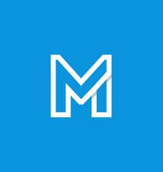 logo letter m white vector image