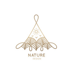 Logo trees in triangle vector