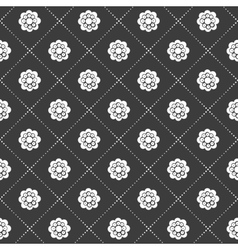 Monochrome flower pattern vector image