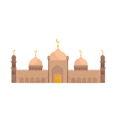 muslim mosque religious temple building vector image