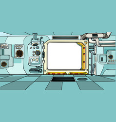 navigator cabin of the spacecraft vector image