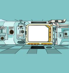 navigator cabin spacecraft vector image