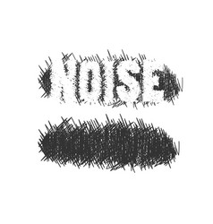 nervous scribble and noisy text vector image