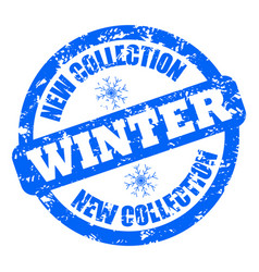 new collection winter rubber stamp clothes shoes vector image