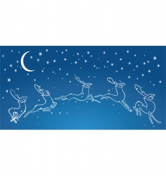 night deers vector image